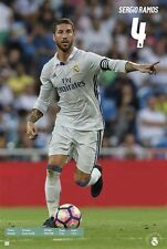 Sergio Ramos Real Madrid  SOCCER Poster Season 2016 - 2017 Brand New