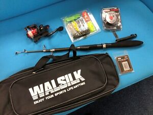 Fishing Rod with various attachments and bag all unused