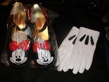 DISNEY Store  Minnie Mouse Shoes for Girls 13/1 and Minnie Mouse GLOVES NEW