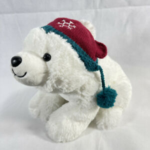 Hallmark NORTHPOLE SHIVERING POLAR BEAR with Beanie BATTERY-OPERATED PLUSH TOY