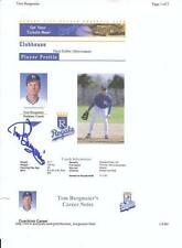 TOM BURGMEIER Autographed Signed 2000 website page print Kansas City Royals COA
