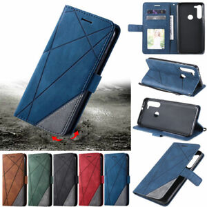 Splice Wallet Leather Flip Cover Case For Motorola Moto G9 Play G50 G30 G10 G20