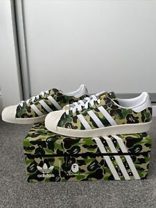 Adidas Superstar Bape Green Camo UK 10