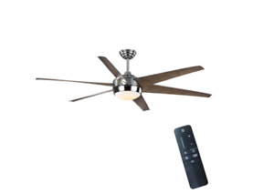 "HDC Windward 68"" Color Changing LED Indoor/Outdoor Polished Nickel Ceiling Fan"