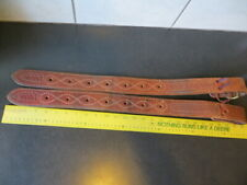 """Rear Billet (Flank Strap) Set Harness Leather Double Stitched Nice 14"""""""