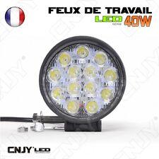 FEUX DE TRAVAIL CNJY LED 40W ROND WORKING LIGHT IP67 CAMION BATEAU 4X4 12/24V