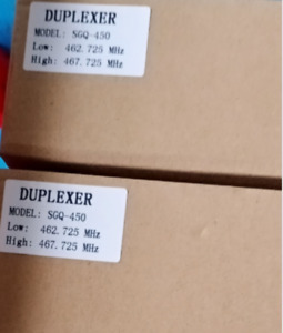 UHF 6 DUPLEXER for Motorola radio repeater N Connector L:462.725 MHZ  H:467.725