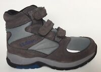 L.L. Bean Hiking Ankle Boots Womens 8 M Gray Suede Hook & Loop 3 Strap