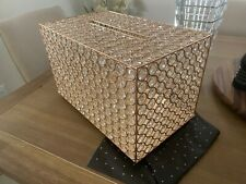 Wedding gold crystal gift card box