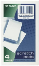 Top Flight Scratch Pads 3 X 5 Inches White 50 Sheets Per Pad 4 Pads Per Pack