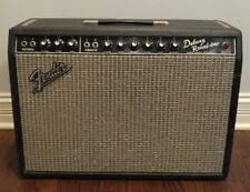 1966 Fender Deluxe Reverb Blackface Guitar Amplifier