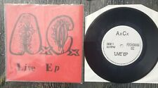 "Anal Cunt Live EP, 7"" record AxCx AC 1991 first print collectors item"