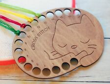 Floss Holder Thread Holder cross stitch Cat embroidery Floss keeper Cat xstitch