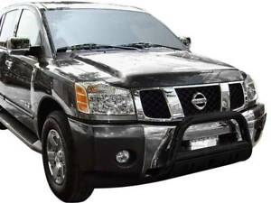 Black Horse Black Bull Bar Bumper Brush Guard Protector  Fit 2004 2015 Titan