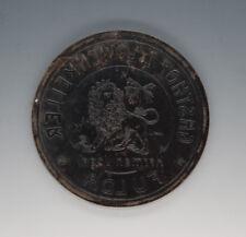 Stempelplatte für Brauereikrüge GASTHOF Z.LÖWENKELLER Herman Vogel FULDA um 1910