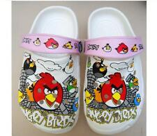 Cute Designer Summer Pink and White Rubber Bird Girls Beach Party Sandal Shoes