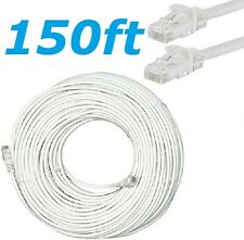 CAT6 RJ45 150FT Ethernet LAN Network Cable Patch Cord For PC Modem Router White