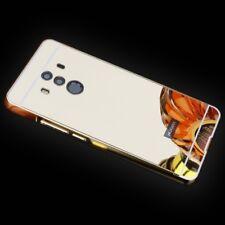 MIROIR / Pare-chocs en aluminium 2 pièces doré pour HUAWEI MAT 10 Pro étui
