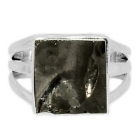 Shungite 925 Sterling Silver Ring Jewelry s.6 SNGR1415