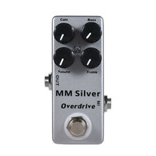 Micro MM Silver Overdrive Mosky Guitar Effects Pedal Timmy Clone true bypass