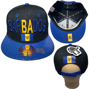 BARBADOS Embroidered Hip Hop Snapback Adjustable Flat Brim Baseball Cap Hats LOT