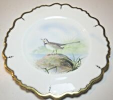 ANTIQUE PARAGON STAR CHINA 4360 HAND PAINTED PLATE  WATER WAGTAIL G.H.EVANS