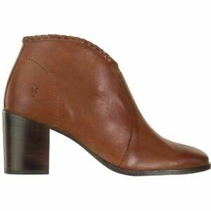FRYE Nora WHIPSTITCH SHOOTIE Leather ANKLE Zip WESTERN Wellington BOOT Women 7.5