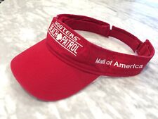 HOOTERS BEACH PATROL red Visor Hat Baseball Cap Mall of America Bloomington MN