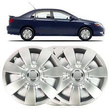 "4 X 14"" SOLID SILVER WHEEL TRIM COVER FITS TOYOTA COROLLA 1983 TO 2007"