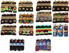 12 Pairs Mens Designer Socks Cotton Rich Lycra Design Socks Size 6-11 Gift Socks