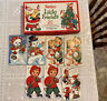 Vintage 7 vintage Christmas cards with box