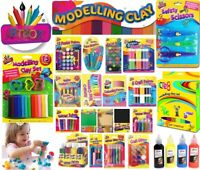 Kids Art Craft DIY Finger Paint Crayons Colouring Pencil Brush School Stationary