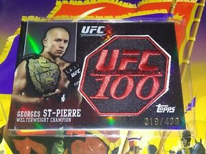 2009 TOPPS UFC100 George St-Pierre GSP PATCH CARD 319/499 making history July 11