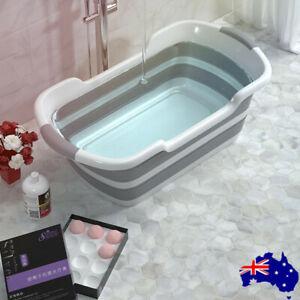 Foldable Baby Bath TubInfant Portable Folding Bathtub Waterproof Basin AU