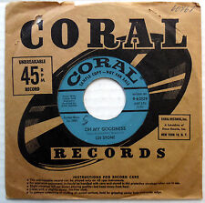 LEE STONE 45 Oh My Goodness / Oh What A Feeling PROMO Sweet Soul w1599