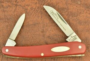 JIM BOWIE GERMAN EYE SOLINGEN GERMANY RED SERPENTINE PEN KNIFE NICE (7862,3)