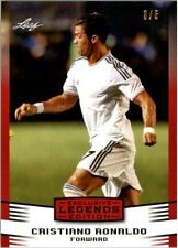 CRISTIANO RONALDO 2016 LEAF LEGENDS EXCLUSIVE RED PARALLEL SOCCER CARD! LTD 5!