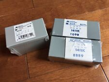 Lot Of 3 Hammond Electrical Wiring Utility Cases Enclosure New 1411K 1411F