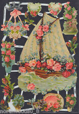 Sail Boat Romance Floral Roses Love Scrap Ef German