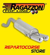 RAGAZZON TERMINALI SCARICO ROTONDI 2x80mm ALFA ROMEO MITO 1.4 TB 114kW 155CV