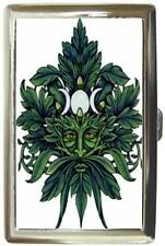 WICCAN PAGAN GREEN MAN CIGARETTE MONEY CARD CASE