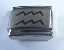 AQUARIUS Italian Charm - Zodiac Horoscope Water Sign fits 9mm Classic Bracelets