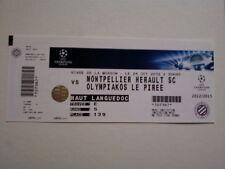 Ticket MONTPELLIER HSC - OLYMPIAKOS PIREUS 2012/13 CH. L France Greece Ελλάδα