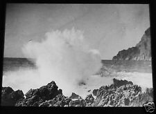 ROSCH Glass Magic lantern slide  CAPRI OCEAN SURF C1900 ITALY