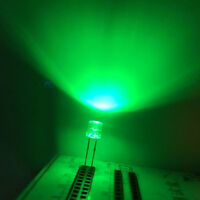 100 x 5mm Green Ultra Bright LED Light Diode Flat Top 15000 MCD Wide Angle