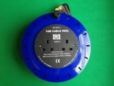 2X 10m Mains Extension Cable Power Lead Wire Adaptor Socket Gang Reel