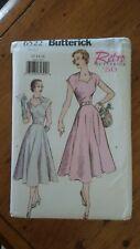 Butterick Retro 1950 Pattern #6522, Misses' Dress, Sz 12-14-16