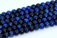 "4MM Natural Lapis Lazuli Blue Tiger Eye Beads Grade AAA Round Loose Beads 15.5"""