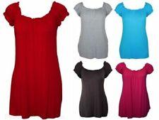 New Plus Size Womens Gypsy Boho Ladies Short Sleeve Stretch T-Shirt Top