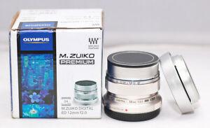 BRAND NEW OLYMPUS Single Focus Lens M.ZUIKO DIGITAL ED 12mm F2.0 f/2.0 Silver